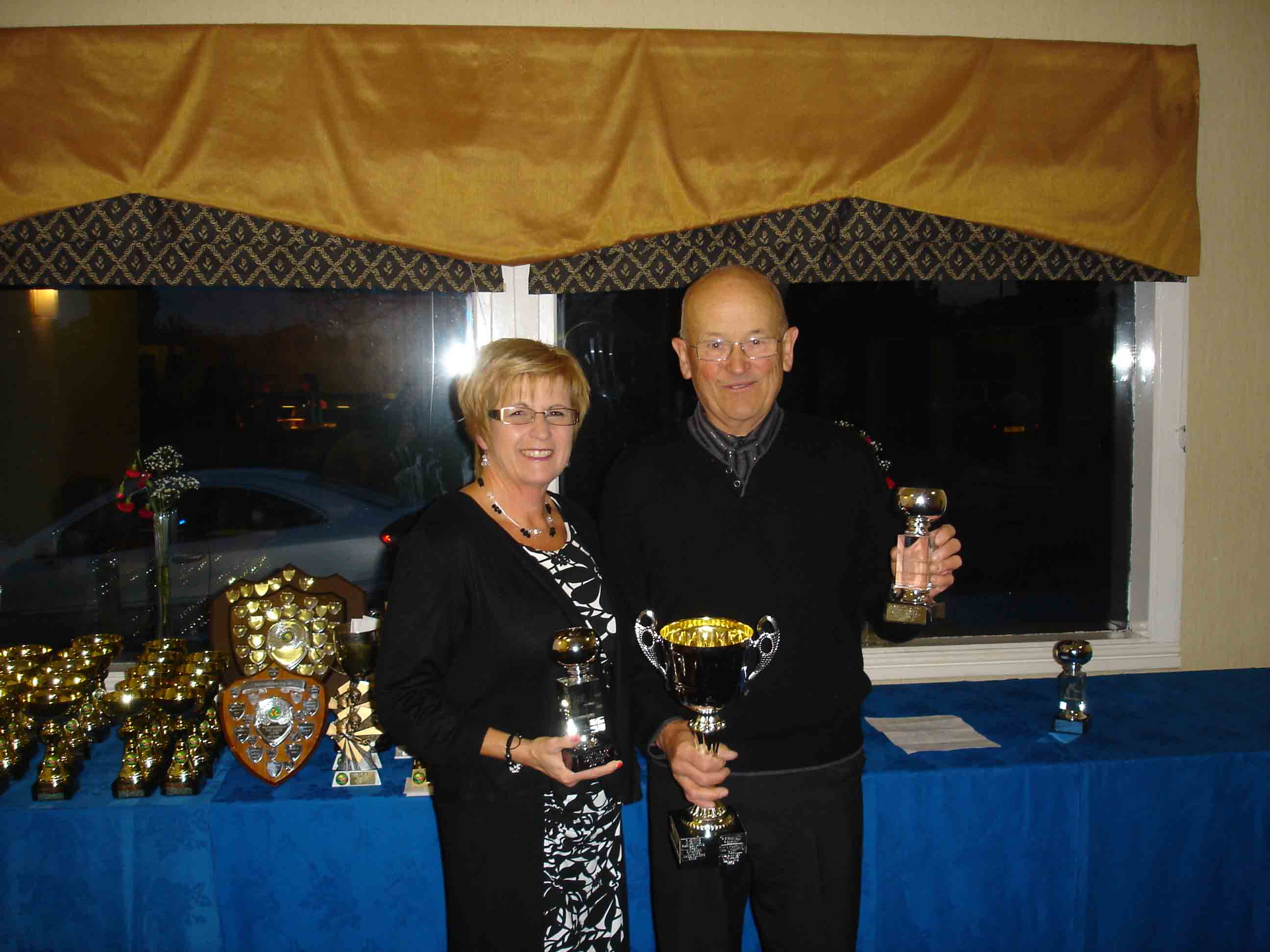 Mixed Doubles Winners - Peter Hughes and Carol Hughes