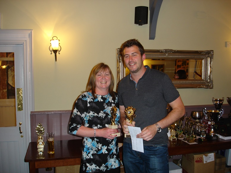 Mixed Doubles Winners - Tony MacDonald and Stephanie Cliff