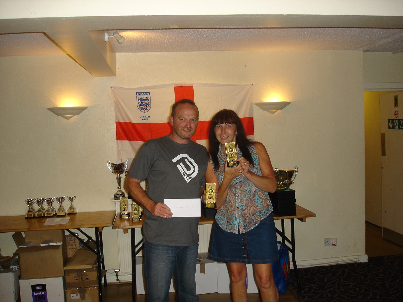 Mixed Doubles Runners up - Aaron Crofts and Carol Crofts